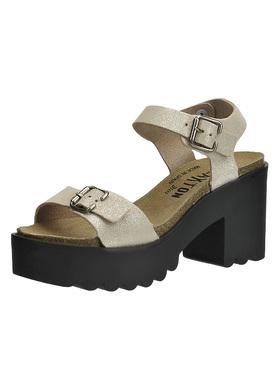 Sandálky na vroubkovaném podpatku Plakton 715060