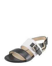 Černo-bílé sandály Solo Femme