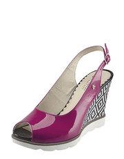 Lakované sandály na klínu Kordel