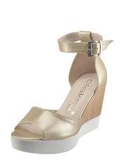 Metalízové sandálky na klínu Oleksy