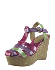 Sandálky na korkovým klínku GIOSEPPO