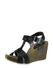 Sandálky na dřeveném klínu TakeMe