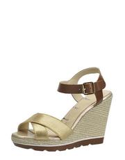 Sandály na slaměným klínu Elle