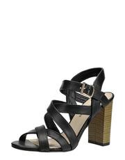 Sandálky na dřeveném podpatku Solo Femme