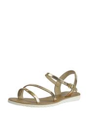 Zlaté sandálky na platformě Les Tropéziennes